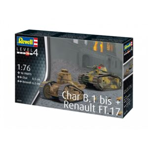 Revell Char. B.1 bis & Renault FT.17 1:76 1/4