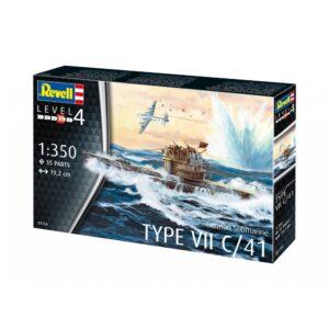 Revell German Submarine Type VII C/41 1:350 1/4