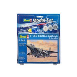 Revell mudelikomplekt F-15E STRIKE EAGLE & bombs 1:144 1/4