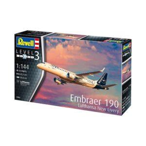 "Revell Embraer 190 Lufthansa ""New Livery"" 1:144 1/4"