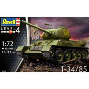 Revell T34/85 1:72 1/4