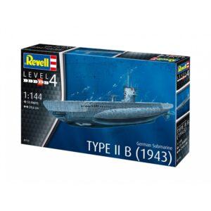 Revell German Submarine Type IIB (1943) 1:144 1/4